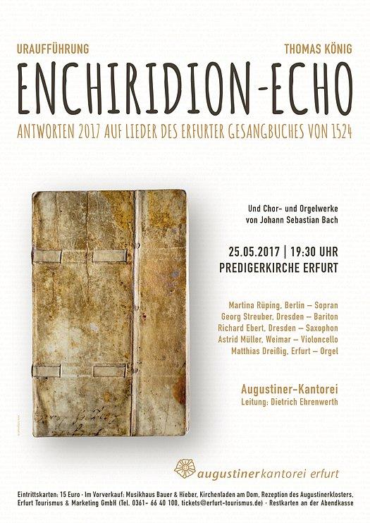 Konzertplakat - Uraufführung Enchiridion Echo 05/2017