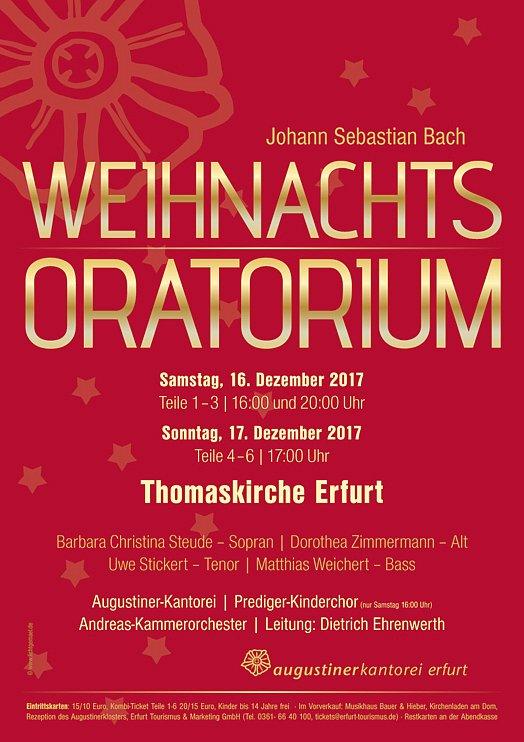 Konzertplakat - Weihnachstoratorium 2017