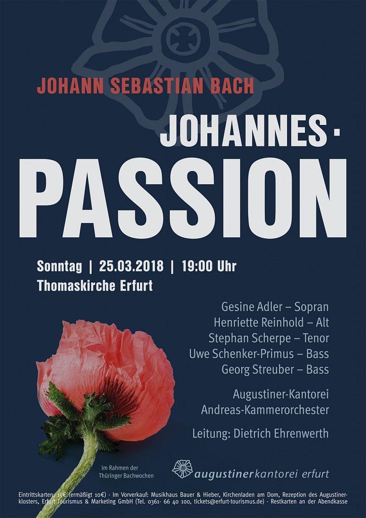 Konzertplakat - Johannes-Passion 3/2018